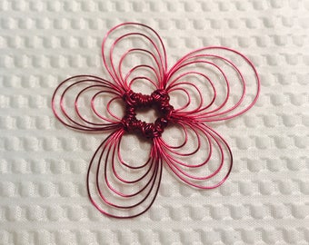 Wire Flower Pendant