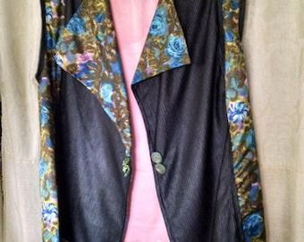 Vest, silky vest, reversible vest