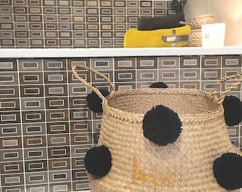 Basket tassels Love everyday