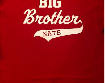 personalized Big Brother shirt, big brother shirt with name, new big brother shirt, personalized Big Brother tshirt, big brother tops