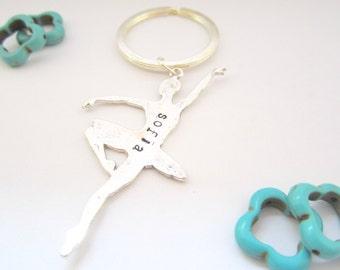 Personalized Ballet Keychain/ Dance/ Dance Team Gift/ Dancer Gift
