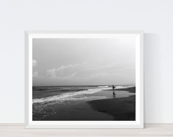Beach pictures, beach black and white, printable photography, beach prints, photography nature, ocean print, beach photo, beach picture C13