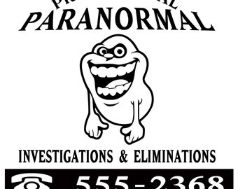 Ghostbusters Paranormal Investigation Slimer SVG