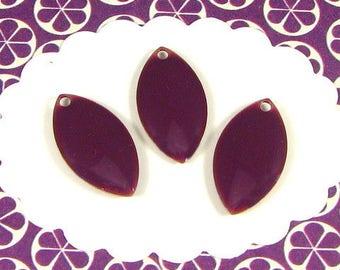 6 enameled purple navettes SEE13