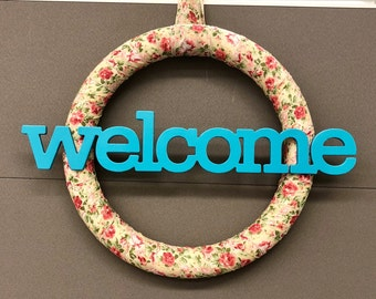 """22.5"""" Welcome Wreath"""