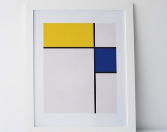 Mondrian big Poster print Minimalist Modern Art Abstract Geometry Printable