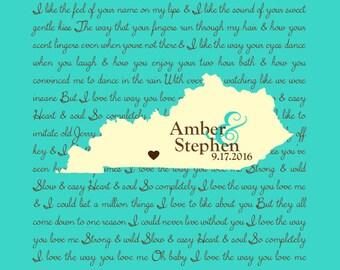 Custom Wedding Song Print
