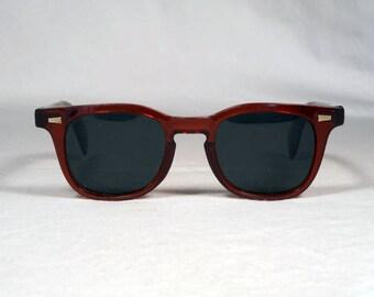 fabulous vintage sunglasses lunettes eyeglasses SUNROCK carved frame france