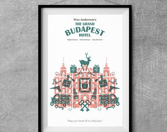 The Grand Budapest Hotel Alternative Movie Poster - Icon Artwork