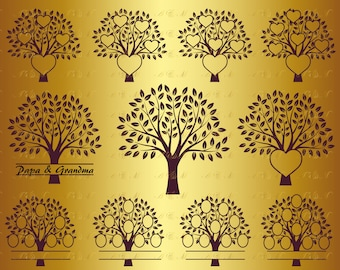 60% OFF, Family Tree SVG Tree Svg Heart Monogram Decal Png Eps Dxf Vinyl Cut Files Grandparents Floral Silhouette Art Print Download Vector