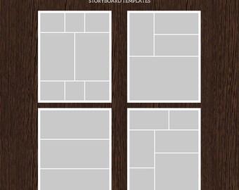 16 x 20 Foto Storyboard Vorlagen - Foto-Collage-Template - PSD Template - Größe bis 8 x 10 - für Fotografen - Instant Download - S221