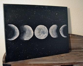 Lunar Phases Acrylic on Canvas