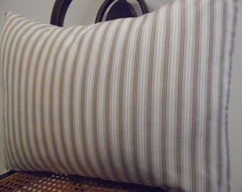 STRIPE.Brown.Off WHite.Natural.Pillow Covers.Slipcovers.Toss Pillows.Lumbar.Farmhouse Fall Decor.Country Decor Fall. FALL Decor.