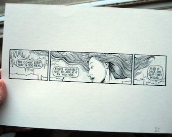 TOO REAL Original Poem Comic Strip by David Lasky