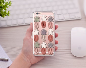 Pineapple iPhone Cases, Be Sweet, Stand Tall, Wear a Crown, ClearTransparent Phone Case, iPhone Case 6/6s 6splus/6plus, 5/5s/SE, 7/7plus