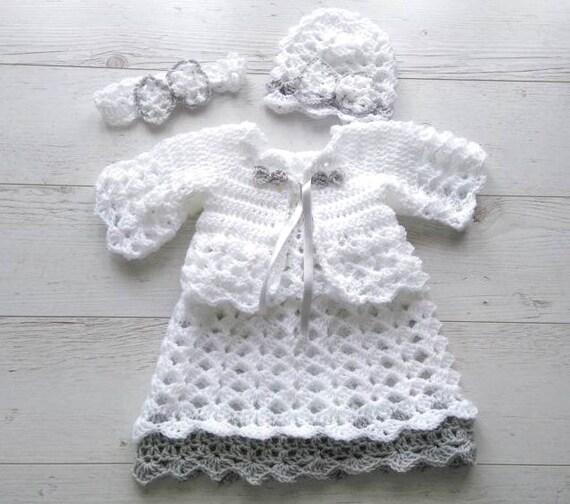 Crochet Baby Dress Set Crochet Newborn Clothes Crochet