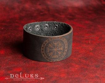 Celtic Bracelet , The Vegvisir , Men's  Wristband, Norse  Bracelet, Nordic  Bracelet Cuff, Men's Cuff Bracelet
