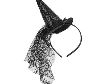Witches Hat - Luxury Halloween Witch Hat - Girls Witches Hat