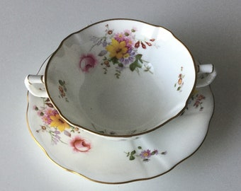Royal Crown Derby Cream Soup Bowl and Under plate.