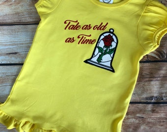 Tale as old as time disney beauty & the beast inspired child shirt