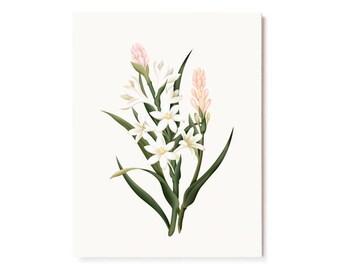 Botanical Scented Card - Tuberose