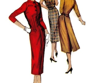 Simplicity 1774 Sewing Pattern Vintage Fashion Women's Fitted Wiggle Dress Size 14 Bust 34