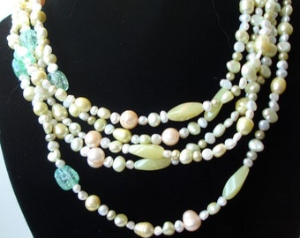 freshwater pearls and jade