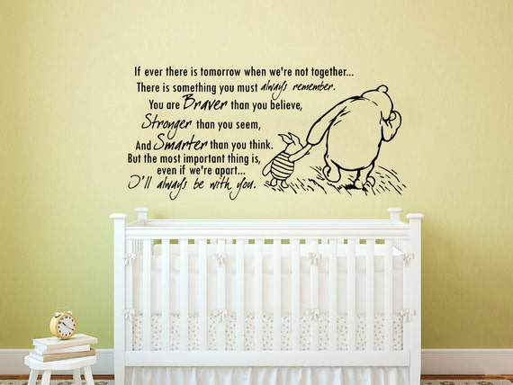 Winnie the Pooh Wall Decal Quote Vinyl Sticker Decals Quotes