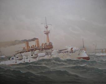 Steamship Print 1892