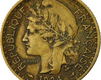 cameroon franc 1924 paris ef(40-45) aluminum-bronze km2