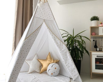 "Tipi ""Little princess"" - teepee, play tent, canvas teepee, wigwam, speeltent, toddler tent, high quality teepee, indoor tent,play mat,"