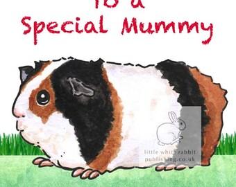 Ozzie the Guinea Pig - Special Mummy Birthday Card