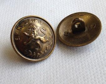 """Bronze Button, Medium,  shank button,  Lot  size is 6 Buttons  3/4""""(20mm) in diameter"""