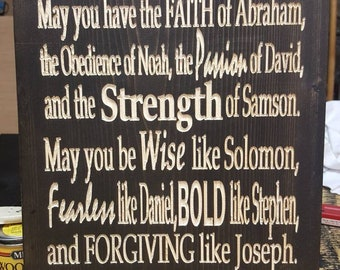 A Prayer For My Son(s) Wood Carved Sign Plaque Boy Mom Gift Religious Mother's Day Faith Christian