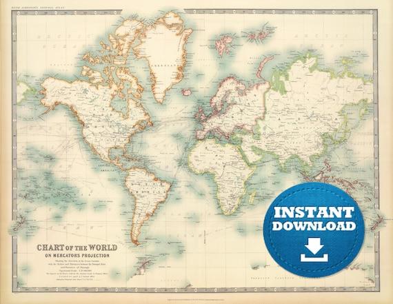 Digital old world map printable download vintage world map digital old world map printable download vintage world map printable map large world map high resolution world map posterastralia gumiabroncs Images