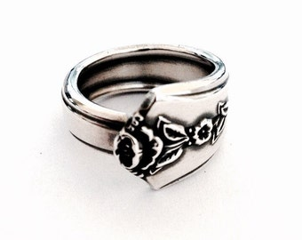 Vintage Silver Spoon Ring - Circa 1949
