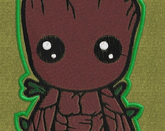 Chibi Groot cute Embroidery file
