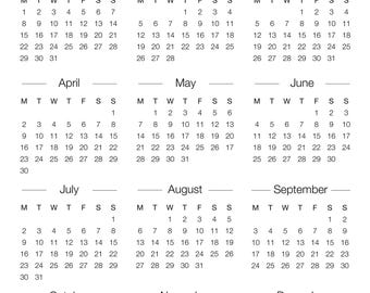 calendar yearly