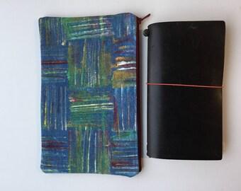 Hand Painted Planner Bag - Traveler's Notebook - Midori - Moleskine - Leuchtturm - TN bag - TN Pouch - Journal Bag - Personal Planner