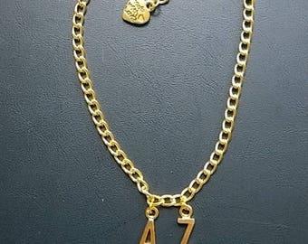 Initials Gold Anklet / bracelet,