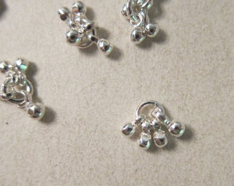 13x7mm, Sterling Silver Drops, each Charm has 4, 3mm Bells (No Clappers) - Available Individually & in Larger Quantity Pkgs