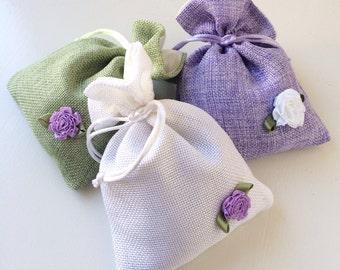 Lavender Sachet - Drawer Sachet - Scented Linen Sachet Bag - Ballet Bag Deoderizer