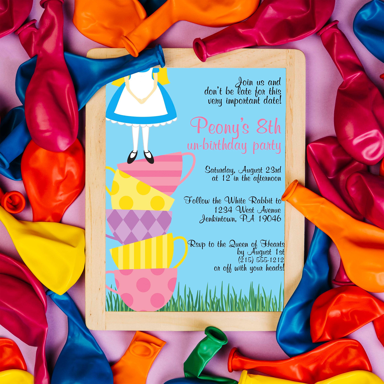 Alice in Wonderland Birthday / Teacup Tower UnBirthday Party
