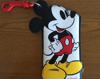 Vintage Marchon Mickey Mouse Soft Glasses Case- Marchon Disney Glasses Case with Key Chain