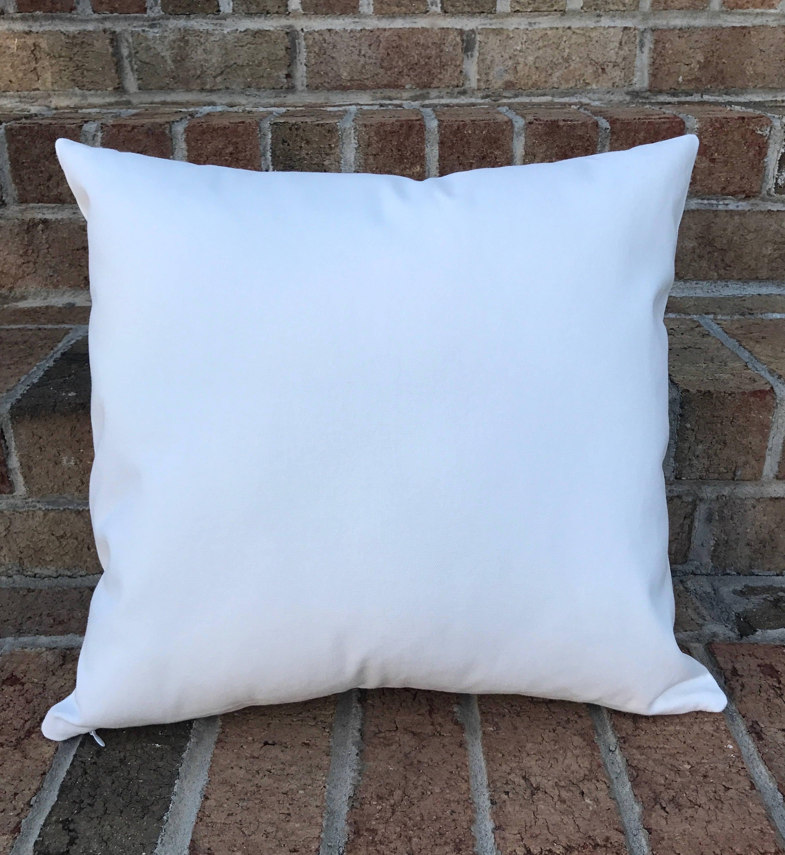 16x16 Wholesale Pillow Covers White Canvas Blank Cotton