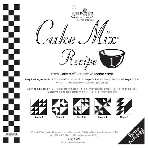 Cake Mix Recipe  By Miss Rosie
