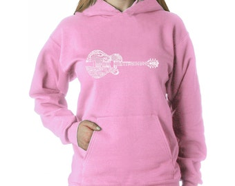 Women's Hooded Sweatshirt - Country Guitar Created using the some of Country Music's Most Legendary Names.