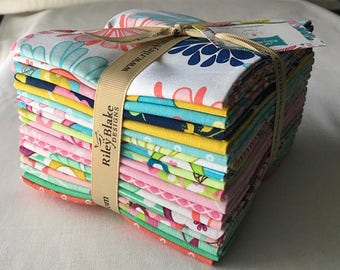 Floriography - (18) Fat Quarter Fabric Bundle - Riley Blake  - by Pink Fig Design