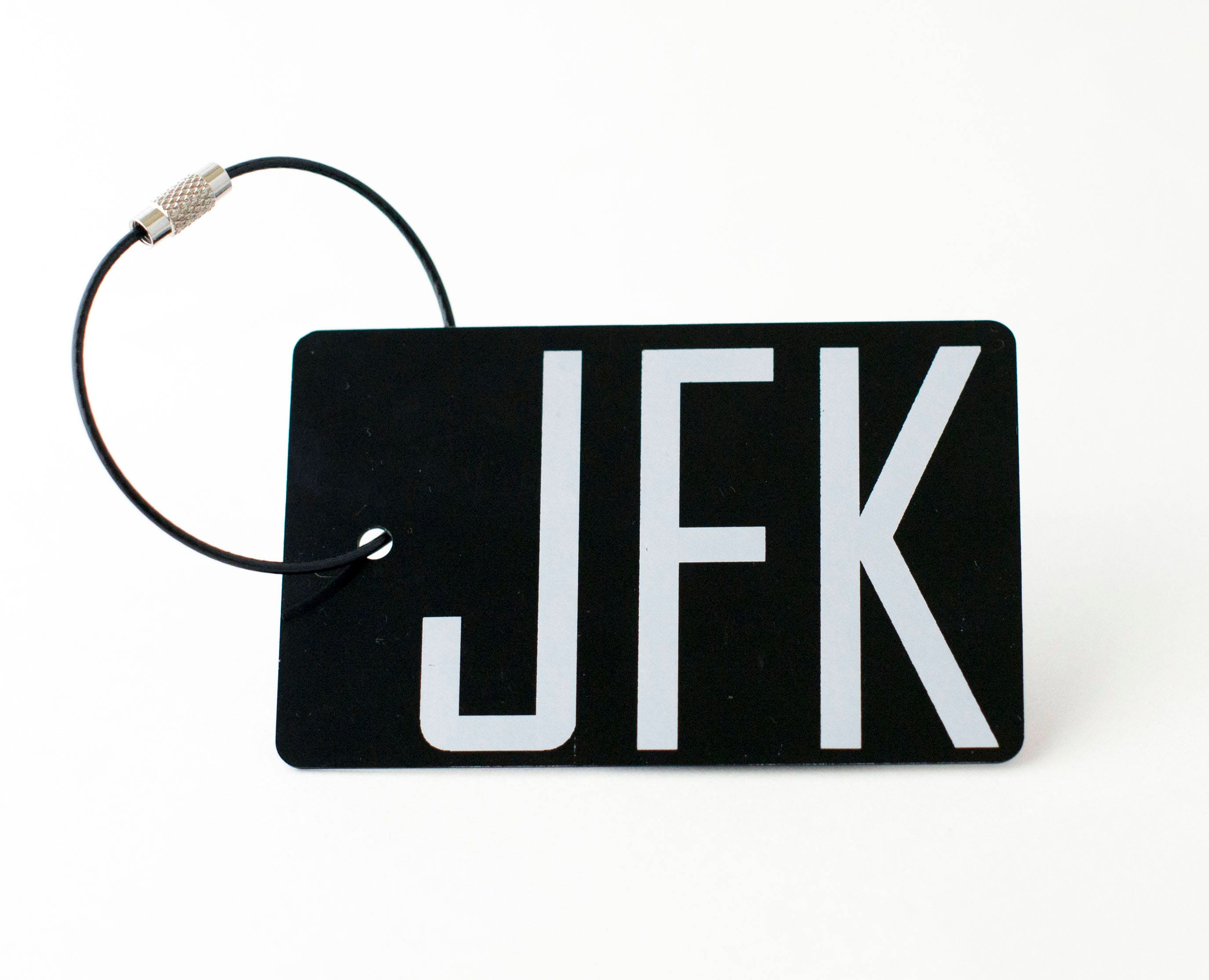 JFK Airport Luggage Tag FREE SHIPPING Black Personalized