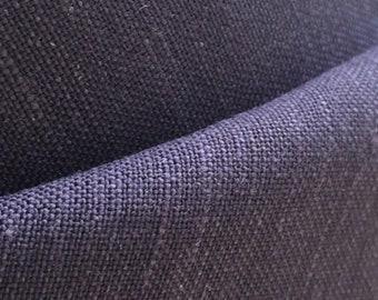 Bamboo Flax Linen - Navy Blue